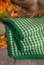 Tuck Stitch Lap Throw / Baby Blanket Pattern