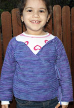 Sweet Promises Child Crochet Sweater Pattern