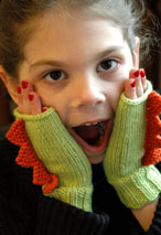 Dinosaur Mittens in 5 sizes Pattern