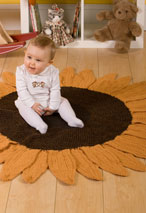 Sunflower Crochet Rug Pattern