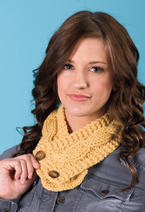 Double Knit Button Scarf Pattern