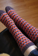 Diamond Toes Socks Pattern