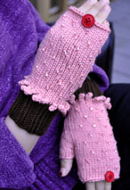 Beaded Cupcake Fingerless Mitts Pattern