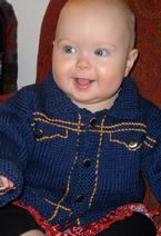 Baby's Jean Jacket Sweater Pattern