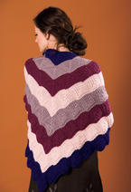 Cascading Kites Triangular Shawl Pattern