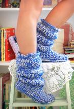 Cozy Slippers Crochet Boots Pattern