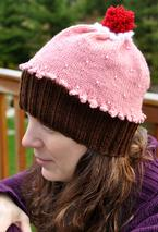 Adult Beaded Cupcake Hat Pattern