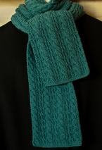 Cable Lover's Reversible Scarf  Pattern