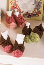 Crocheted Baby Sneakers Pattern