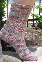 Rose Colored Glasses Socks Pattern