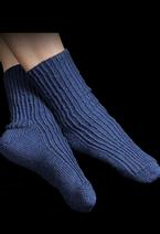 Toe-Up Twisted Knit Rib Socks Pattern