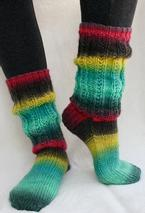 Dance All Night Slouch Socks Pattern