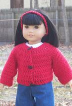 "Simply Stylish Sweaters for 18"" Dolls Pattern"