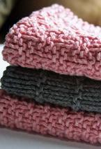 Kitchen Knitted Dishcloths - set of 3 Pattern