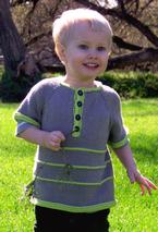 Garter Stripe Child Henley Pattern