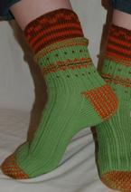 Double-Cuff Socks Pattern