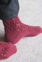 Rose Trellis Socks Pattern