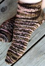 Peek-a-Boo Polka Dot Crew Sock Pattern