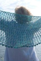 Crochet Crescent Sea Shawl  Pattern