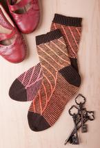 Traveling Stripe Socks Pattern