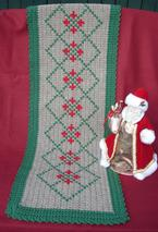 Holiday Crochet Table Runner  Pattern