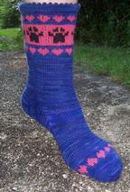 Puppy Love Socks Pattern