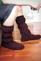 Men's Cozy Crochet Slipper Boots