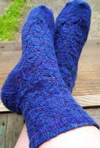 Diamond Wrap Socks Pattern