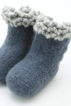 Crochet Felted Baby Button Boots Pattern