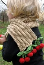 Cherries and Champagne Scarf Pattern