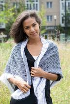 Granite and Cloud Lace Triangle Wrap Pattern