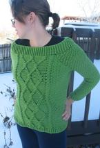 Twisted Trellis Crochet Sweater Pattern