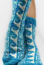 Hawaiian Tattoo Socks Pattern