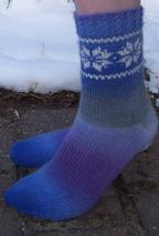 Winter Sky Socks Pattern