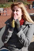 Warblers Fingerless Mitts Pattern