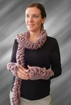 Crochet BeRuffled Scarf & Fingerless Gloves Pattern