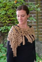 Under the Willow Tree Lacy Crochet Wrap Pattern