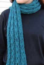 Mock Cable and Eyelet Scarf Pattern
