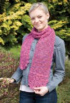 Blossomy Crochet Scarf  Pattern