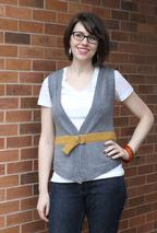 Put a Belt On It Vest Pattern
