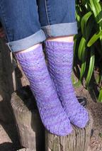 Garnet Lattice Socks Pattern
