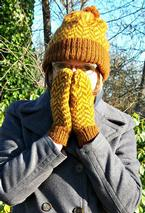 Herringbone Hat and Mittens Pattern
