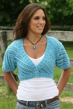 Summer Blues Cropped Lace Cardigan Pattern