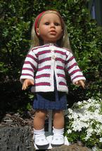 Stars & Stripes Doll Sweater Pattern