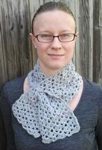 Double Fan Stitch Keyhole Crochet Scarf Pattern