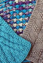 Kitchen Knitted Dishcloth 3 - set of 3 Pattern