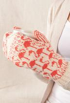Flamingo Mittens Pattern
