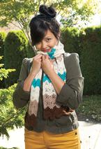 Desert Ripples Lace Scarf Pattern