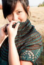 Two Color Crescent Shawl Pattern