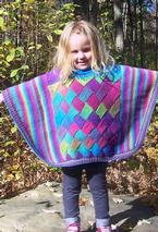 Diamonds and Rainbows Child Poncho Pattern